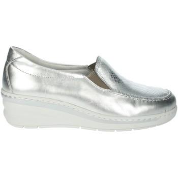 Zapatos Mujer Mocasín Notton 2404 Plata