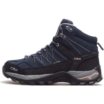 Zapatos Mujer Senderismo Cmp Rigel Mid Wmn WP Negros, Azul marino