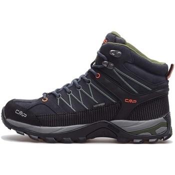 Zapatos Hombre Senderismo Cmp Rigel Mid WP Negros