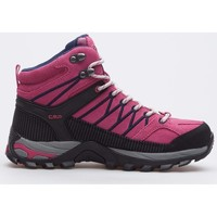 Zapatos Mujer Senderismo Cmp Rigel Mid Wmn WP Negros, Rosa