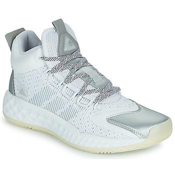 Zapatos Baloncesto adidas Performance PRO BOOST MID Blanco / Plata