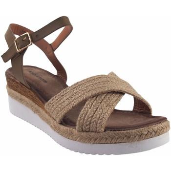 Zapatos Mujer Sandalias Olivina Sandalia señora BEBY 19049 beig Marrón