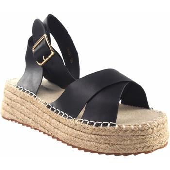Zapatos Mujer Alpargatas Olivina Sandalia señora BEBY 19051 negro Negro