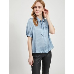 textil Mujer Tops / Blusas Vila Suwavey Shirt Ashley Blue Azul