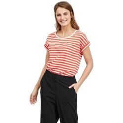 textil Mujer Camisetas manga corta Vila Dreamers T-Shirt Pure Cherry Tomato Lilac Snow Rojo