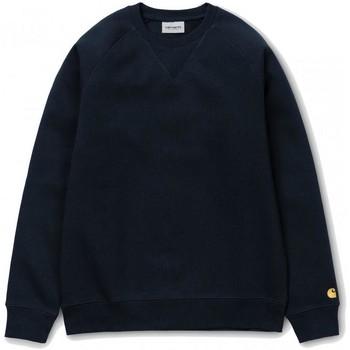 textil Hombre Sudaderas Carhartt Chase Sweatshirt Navy Gold Azul