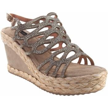 Zapatos Mujer Alpargatas Olivina Sandalia señora BEBY 19063 beig Blanco
