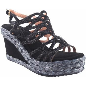 Zapatos Mujer Alpargatas Olivina Sandalia señora BEBY 19063 negro Negro
