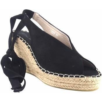 Zapatos Mujer Alpargatas Olivina Sandalia señora BEBY 19072 negro Negro