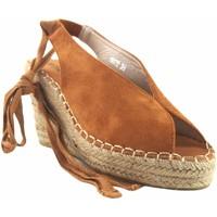 Zapatos Mujer Alpargatas Olivina Sandalia señora BEBY 19072 cuero Marrón