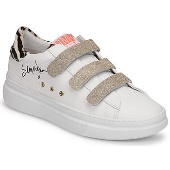 Zapatos Mujer Zapatillas bajas Semerdjian BARRY Blanco / Oro