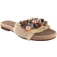 Zapatos Mujer Zuecos (Mules) Olivina Sandalia señora BEBY 19059 beig Blanco