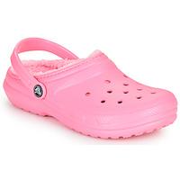Zapatos Niños Zuecos (Clogs) Crocs CLASSIC LINED CLOG K Rosa