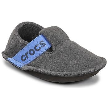 Zapatos Niños Pantuflas Crocs CLASSIC SLIPPER K Gris / Azul
