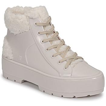 Zapatos Mujer Botas de caña baja Melissa MELISSA FLUFFY SNEAKER AD Beige / Blanco