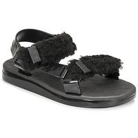 Zapatos Mujer Sandalias Melissa MELISSA PAPETTE FLUFFY RIDER AD Negro