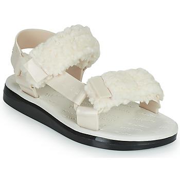 Zapatos Mujer Sandalias Melissa MELISSA PAPETTE FLUFFY RIDER AD Beige / Negro
