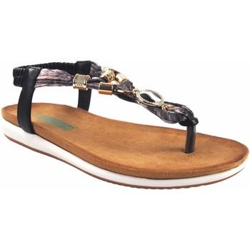 Zapatos Mujer Sandalias Amarpies Sandalia señora  19043 ako negro Negro