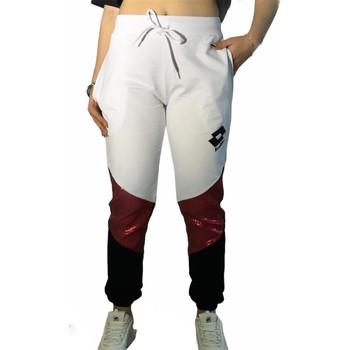 textil Mujer Pantalones de chándal Lotto LTD447 Blanco/Fucsia