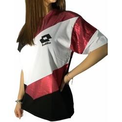 textil Mujer Camisetas manga corta Lotto LTD445 Blanco/Fucsia