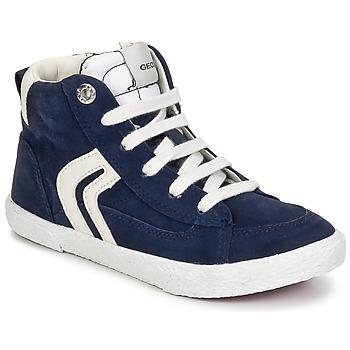 Zapatos Niño Zapatillas altas Geox KIWI BOY Marino