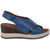 Zapatos Mujer Sandalias Pepe Menargues JEANS VACUNO Blu