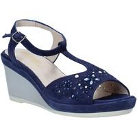 Zapatos Mujer Sandalias Melluso HR70511 Azul
