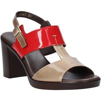 Zapatos Mujer Sandalias Melluso HR8540 Rojo