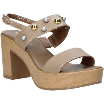 Zapatos Mujer Sandalias Melluso HR80107 Beige