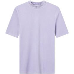 textil Mujer Camisetas manga corta Calvin Klein Jeans J20J215230 Violeta