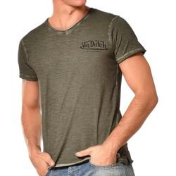 textil Hombre Camisetas manga corta Von Dutch  Verde
