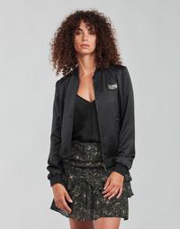textil Mujer cazadoras Ikks FANNY Negro / Kaki