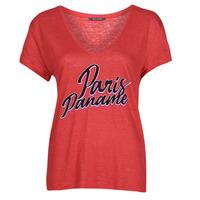 textil Mujer Camisetas manga corta Ikks CARRY Rojo