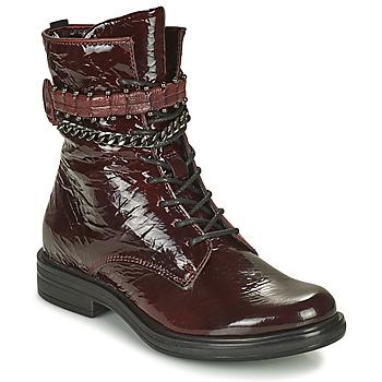 Zapatos Mujer Botas de caña baja Mjus CAFE PATENT Burdeo