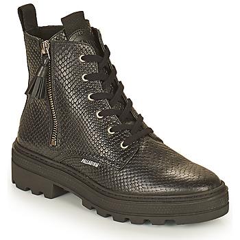 Zapatos Mujer Botas de caña baja Palladium Manufacture CULT 04 NAP Negro