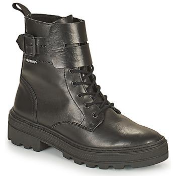 Zapatos Mujer Botas de caña baja Palladium Manufacture CULT 03 NAP Negro