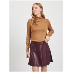 textil Mujer Jerséis Vila Bolonia Roll Neck knitted Top Tigers Eye Marrón