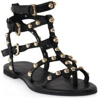 Zapatos Mujer Sandalias Mosaic 1600 VITELLO NERO Nero