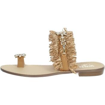 Zapatos Mujer Chanclas Gold & Gold GL613 Marrón cuero