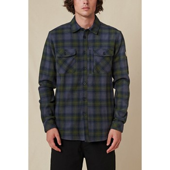 textil Hombre Camisas manga larga Globe Chemise  Wanderer Shacket bleu/vert