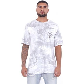textil Hombre Camisetas manga corta Sixth June T-shirt  Custom Tie Dye blanc/rose