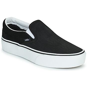 Zapatos Mujer Slip on Vans CLASSIC SLIP-ON PLATFORM Negro / Blanco