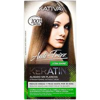 Belleza Mujer Tratamiento capilar Kativa Keratin Anti-frizz Alisado Sin Plancha Extra Brillo  30 d