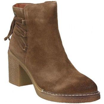 Zapatos Mujer Botines D'angela Botines para mujer  drb16368-me color marron con tacón Marron