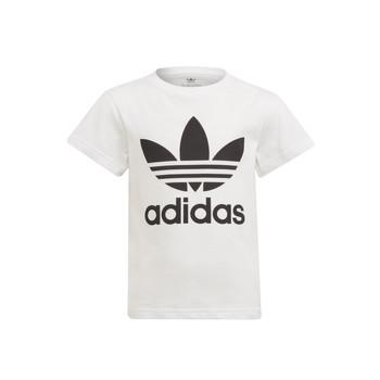 textil Niños Camisetas manga corta adidas Originals FLORE Blanco