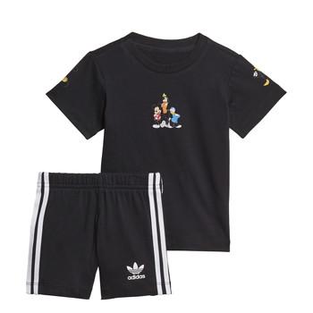 textil Niño Conjunto adidas Originals COTES Negro