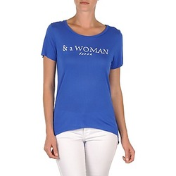 textil Mujer camisetas manga corta School Rag TEMMY WOMAN Azul