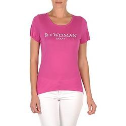 textil Mujer camisetas manga corta School Rag TEMMY WOMAN Violeta