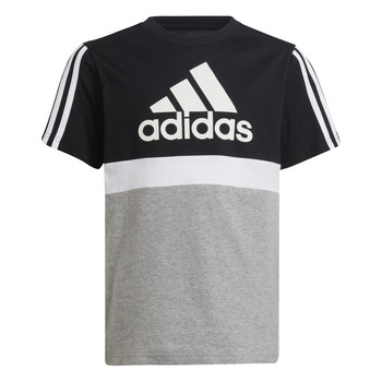 textil Niño Camisetas manga corta adidas Performance MOULITA Gris / Negro