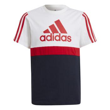 textil Niño Camisetas manga corta adidas Performance GUILIA Blanco / Marino